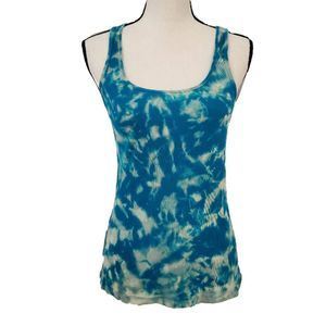 J.Crew Upcycled Bleach Tie Dye Ribbed Tank Size M